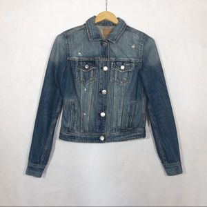 American Eagle Destroyed Denim Jacket - Size XS